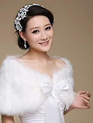 Fashion Faux Fur Warm Wedding Wraps (Free Size) Bolero Shrug