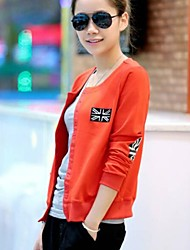 Women's  Round Collar All Match Union Jack Slim Casual Outwear