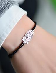 Fashion Women Owl Stamping Elastic Bracelet
