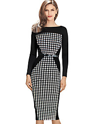 la mode robe de hounstooth occasionnel de Monta femmes