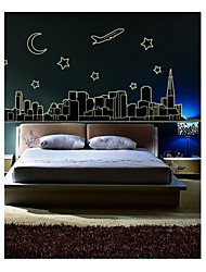 stickers muraux stickers muraux, style fluorescence City Wall pvc autocollants