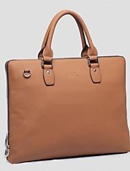 versátil bolsa de portátil maletín de cuero genuino sólido de los hombres