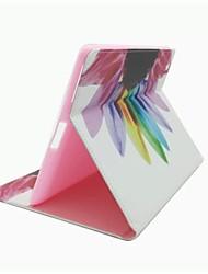 motif de fleurs coloré cuir PU cas de tout le corps avec support et une carte slot pour Mini iPad 1/2/3