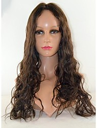 20Inch 100% Indian Human Hair Nature Wave Machine Made Wig