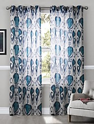 Energy Saving Neoclassical Floral Curtain (One Panel)