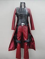 Inspirado por Devil May Cry Fantasias Vídeo Jogo Cosplay Costumes Ternos de Cosplay Patchwork Vermelho Manga CompridaCasaco / Calças /
