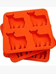 Red Bull Ice Cream Mould,Plastic 15×15×2.5 CM(6.0×6.0×1.0 INCH)