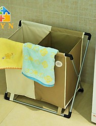 BYN Double Bag Laundry Basket,60x35x55cm(24x14x22inch)