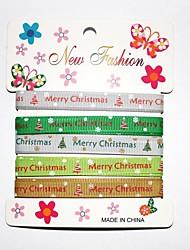 3/8 pouce impression Noël et beau ruban de nervure de motif de neige joyeux ribbon- une verges par rouleau (cinq couleurs une carte)