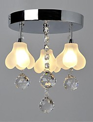 20W Modern/Contemporary Crystal Metal Flush Mount Living Room