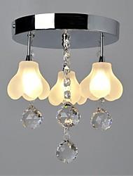 20W Modern/Contemporary Crystal Metal Flush Mount Living Room