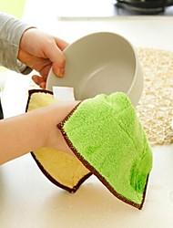 Antihaftöl Küche Waschtuch, Mikrofaser 20 x 20 x 2 cm (7,9 × 7,9 × 0,8 Zoll) zufällige Farbe