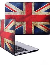 "caso de borracha fosco sench revestido de casca dura clipe snap-on com o desenho da bandeira nacional para MacBook Pro 13 ""- a1278"