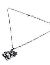 Game Of Thrones Necklace Style Necklace Chain Jewelry Neck Decoration (Silver)