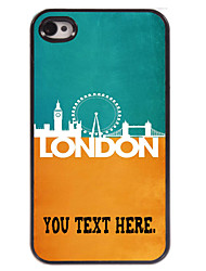 Personalized Case London Metal Case for iPhone 4/4S