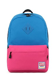 Unisex Canvas / Nylon Sports / Casual Backpack Pink / Purple / Blue / Yellow / Red