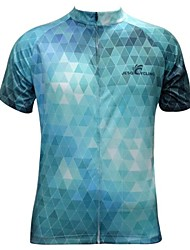 JESOCYCLING® Camisa para Ciclismo Homens Manga Curta Moto Respirável / Secagem Rápida Camisa/Fietsshirt / Blusas Poliéster Xadrez