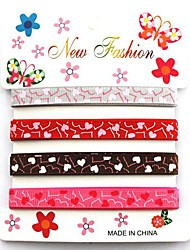 3/8 Inch Romantic Love Word Heart-shaped Rib Ribbon Printing Ribbon- 1 Yards Per Roll (Four Color One Card)