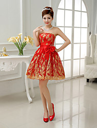 Short/Mini Bridesmaid Dress - Ruby A-line / Princess Strapless