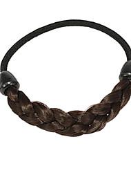 (1 pc) des liens de cheveux de tissu de café doux pour les femmes