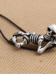 Personalized Retro Skull Necklace