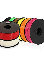 dazzlelight 3d imprimante 3d filament consommables d'impression matériel (des hanches abs Pla, 1.75mm 3.0mm, 15 couleurs, 1kg)