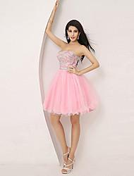 Homecoming A-line Sweetheart Knee-length Evening Dress