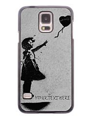 caja del teléfono personalizado - volar la caja del metal del diseño del corazón para i9600 Samsung Galaxy S5