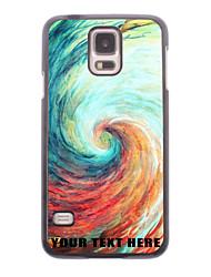 caja del teléfono personalizado - caso del diseño del metal de vórtice para i9600 Samsung Galaxy S5