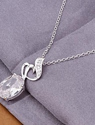 SSMN Women's Silver Plate Necklace
