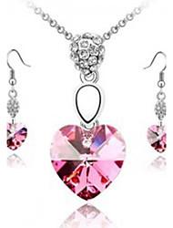 collares de color rosa pendientes de la joyería de (1 juego)