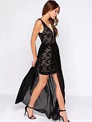 v moda feminina pescoço vestidos elegantes