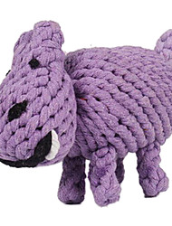 Dogs Toys Chew Toy Hippo Textile Purple