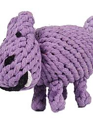 Perros Juguetes Juguete Mordedor Hipopótamo Textil Morado