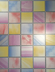 Bathroom mosaic tile kitchen window stickers waterproof paper stained glass opaque film