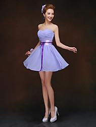 Short/Mini Bridesmaid Dress - Lavender Sheath/Column Sweetheart