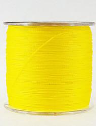 500M / 550 Yards Linha Traçada PE / Dyneema Linhas de Pesca Amarelo 10LB / 12lb / 15LB / 18 lb / 20LB / 25LB / 30LB