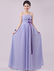 Floor-length Chiffon Bridesmaid Dress - Lavender Sheath/Column Sweetheart