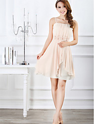 Ankle-length Chiffon Bridesmaid Dress - Blushing Pink / Lavender / Black / Champagne Ball Gown Sweetheart