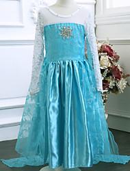Vestido Chica de - Otoño / Primavera - Poliéster - Azul