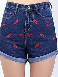 Women's Blue Denim Pant , Casual