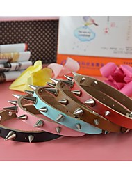 New Arrival Cow Leather Aggressive Sharp Spikes Collar for Dogs and Pets (assorted colors,size)