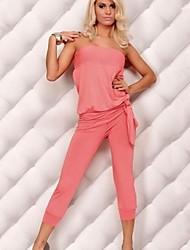 moda venta bandeau caliente overoles color sólido de las mujeres