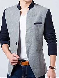 jaqueta de gola costura masculina