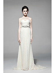 Sheath / Column Wedding Dress Floor-length Sweetheart Lace with
