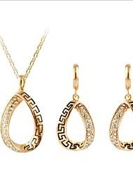 мода в Европе и Америке, чтобы восстановить древние способы костюм овальные Ожерелья Серьги (1 комплект)