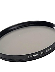 TIANYA® 58mm CPL Circular Polarizer Filter for Canon 650D 700D 600D 550D 500D 60D 18-55mm Lens