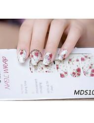14pcs мультфильм теплый цвет ногтей искусство наклейки mds1013