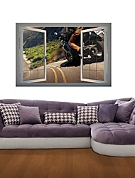 3D Wall Stickers Wall Decals, Cool Motorcycle Decor Vinyl Wall Stickers