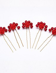 Headpieces Women/Flower Girl Alloy/Imitation Pearl Hairpins 5 Pieces